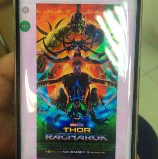 Thor Ragnarok ticket for sale for 2