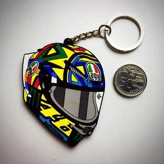 BN AGV Helmet Rubber Keychain