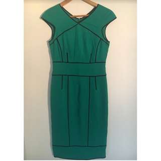 David Lawrence Bengaline Pencil Dress Green Size 8