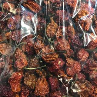 Dried Carolina Reaper Pods