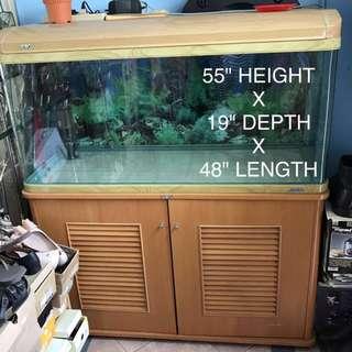 JEBO Fish Tank w Cabinet
