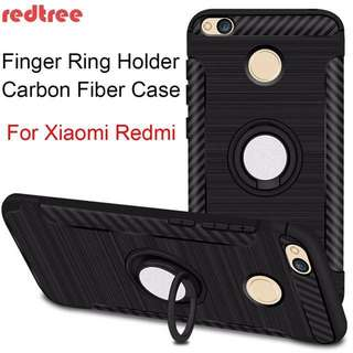 ✔️Instock Redmi 4x 4a Tpu case cover with ring magnetic