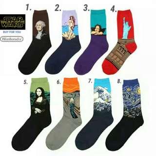 $29@ $98/4 World's Famous Painting Socks 名畫 韓 襪