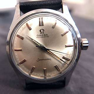 Ω Vintage 1950's OMEGA Seamaster Automatic Watch with cal. 351 17J Bumper movement ! Very good condition silvery sunburst dial
