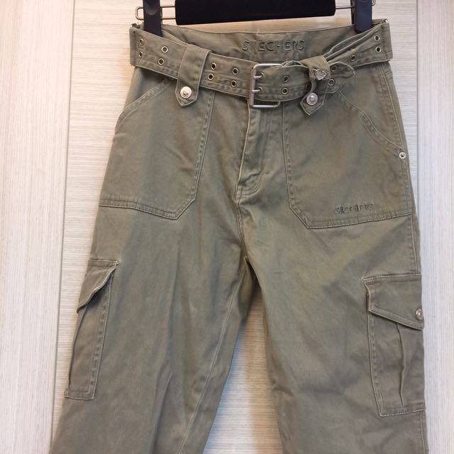 草綠牛仔長褲-16SKECHERS
