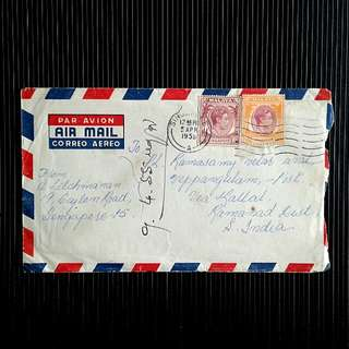 1955 Singapore to india cover