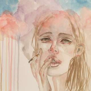 """Sweet Spot"" ORIGINAL Watercolor Illustration"