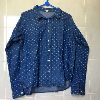 Uniqlo jeans shirt - size S