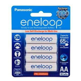 Panasonic eneloop 低放電 2A, AA Rechargeable Battery 充電池 叉電 (Made in Japan) - 原裝行貨
