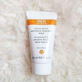 REN Glycol Lactic Radiance Renewal Mask (15mL)
