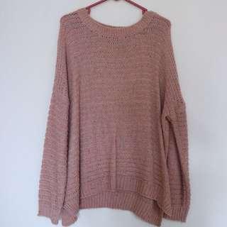 Sweater Nude Pink made in Korea Asli