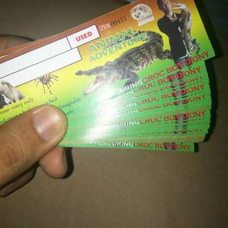 Ticket!!!! Croc Boy Diony Animal Adventures