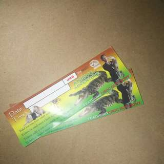 TICKETS! croc boy diony animal adventures