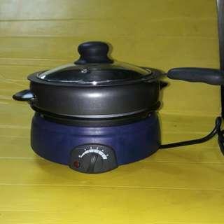 多功能煎煮烤電熱鍋~可煎,可小火鍋,可燒烤整組只要450元●Can be fried eggs ●Can be barbecued meat