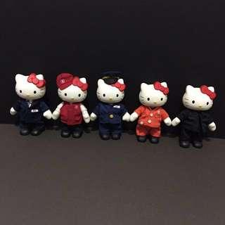 Hello kitty in MTR staff uniform紀念figures