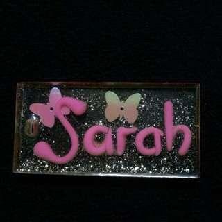 Keychain nametag handmade