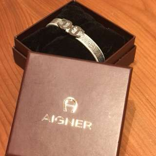 AIgner leather bracelet