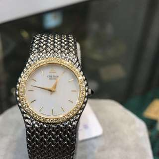 Seiko 18K鑽石圈 女裝手表