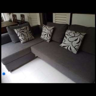 L-Shape sofa bed for sale .