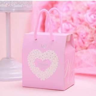 Wedding gift paper bag gift box