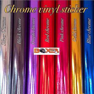 High Stretch Chrome Vinyl Sticker