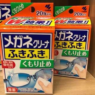 日本小林製藥鏡面清潔防霧紙巾 20包裝