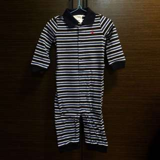 (全新)Ralph Lauren Striped Mesh Polo Coverall