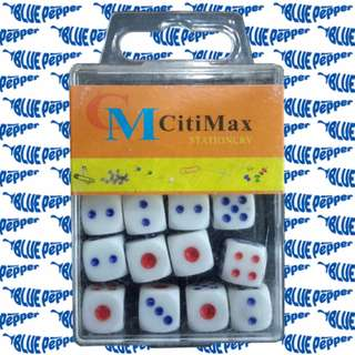 Dice 6-sided Set with Case (12 pcs/case, 11mm size) 🎲 🇨🇳