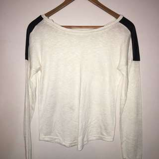 Mink white long sleeve top