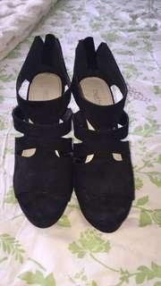 Betts black wedge heels