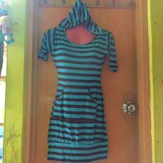 Hooded Bodycon Dress
