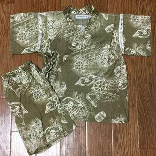 日本帶回浴衣 90cm 海盜 $300