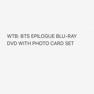 WTB BTS EPILOGUE ONSTAGE BLU RAY DVD W PHOTO CARDS