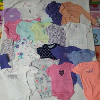 Baby Girl Onesis  ALL CARTERS! 0-6 months