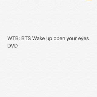 WTB BTS WAKE UP OPEN YOUR EYES DVD