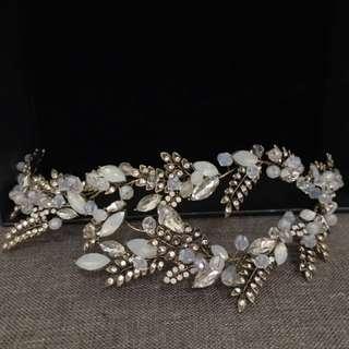 🚚 [創業讓妳低成本]歐美頭飾 皇冠 手工飾品 新娘秘書 整體造型
