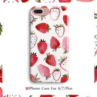 【預購】6+7+8/草莓/全包/軟殼/不掉色/手機殼/Iphone6/I7/I8/plus/4.7吋/5.5吋