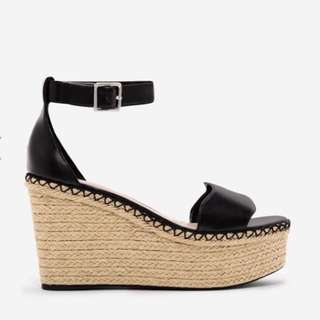 Charles and Keith ESPADRILLE WEDGE SANDALS