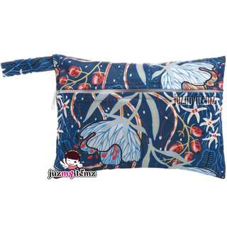 Multipurpose Small Wetbag | Clutch | Pouch - Blue Floral