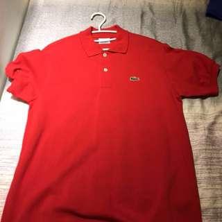 Lacoste 素polo衫