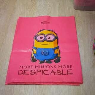 Minion plastic bag