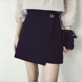 開衩質感短裙