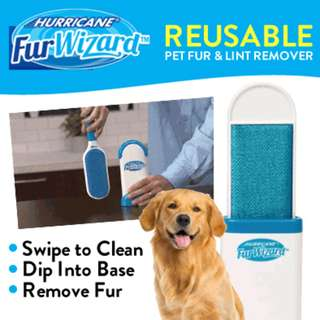 Hurricane Fur Wizard Fur Lint Remover Self -Cleaning Base.