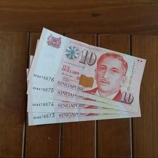 $10 Paper Portrait 4xrunning