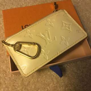 Louis Vuitton Yellow Vernis Cles/Coin Purse