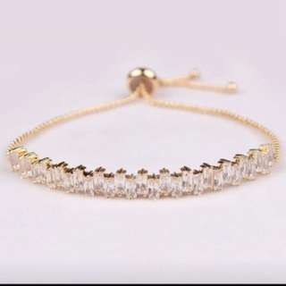 18k gold plated zirconium bracelets