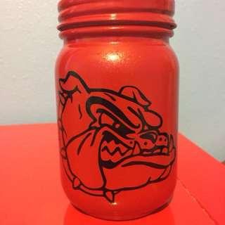 Georgia Bulldogs Mason Jar Coin Bank