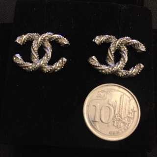 BNIB CHANEL Earrings Silver
