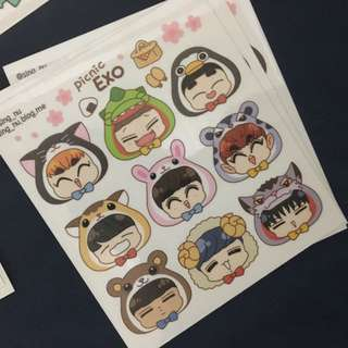 EXO Picnic stickers by sing_nu