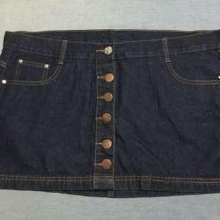 Denim Buttondown Mini Skirt